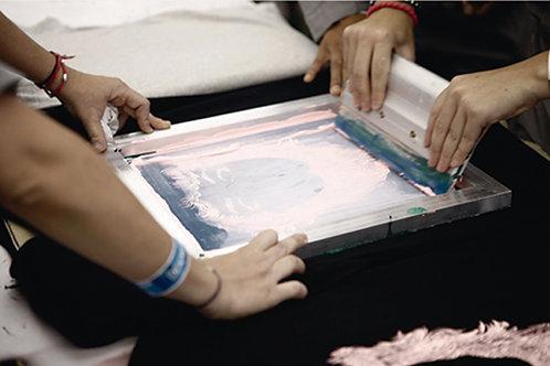 Introducción a la serigrafía: impresión sobre papel y textil