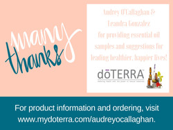Thanks for your support Audrey & Leandra!