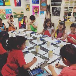 Camp Drawing Day! #beescreativeartstudio #edgewaternj #ArtClasses #art #Artstudio #kid #drawing #sum