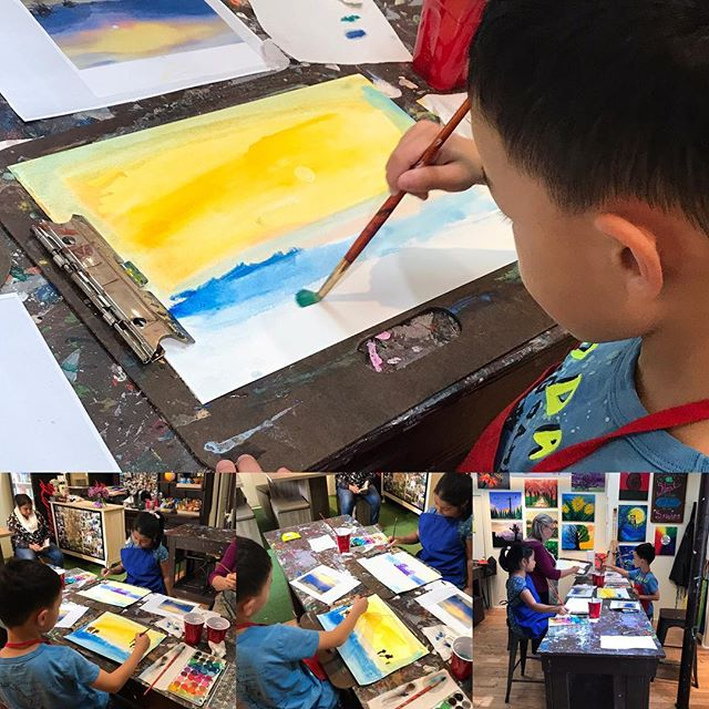 Saturday Afternoon at Bees Creative Art Studio #watercolorclasses #LoveArt #art #edgewaternj #beescr