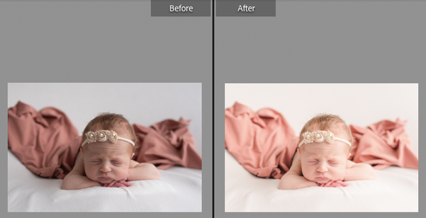 Newborn with natural light and strobe