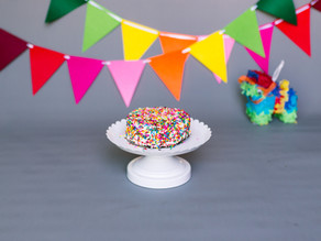A Rainbow Cake Smash // First Birthday
