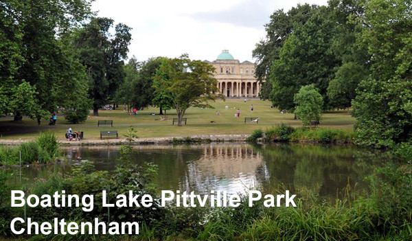 Boating in Cheltenham at Pittville Park