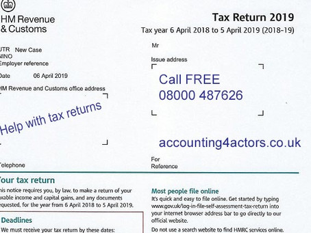 April 2020 – you'll get the weirdest letter from HMRC