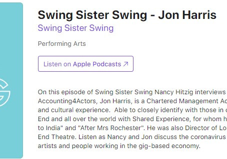Swing Sister Swing Podcast - Jon Harris Accounting4Actors