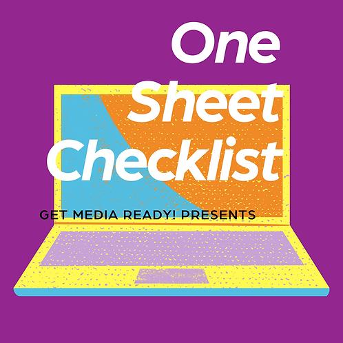One Sheet Checklist