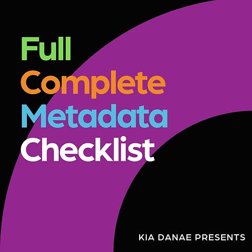 Completed Metadata Checklist