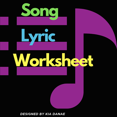 Song Lyric Worksheets