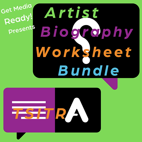 Artist Biography Worksheet Bundle