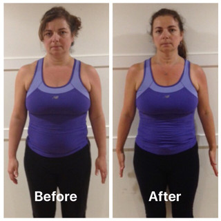 Louise weight loss front