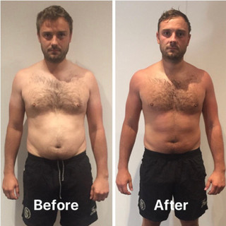 Michael weight loss front