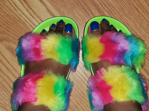 """Rainbow"" Furby slides"
