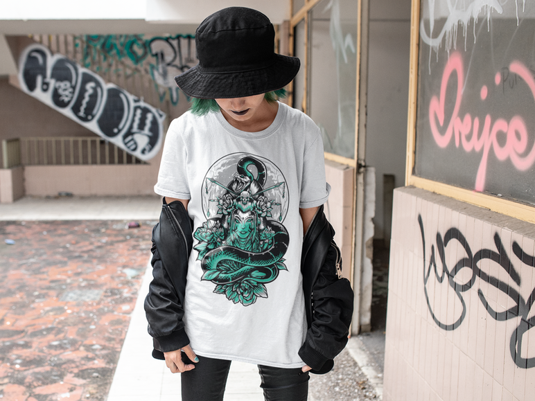 t-shirt-mockup-of-a-punk-girl-with-green
