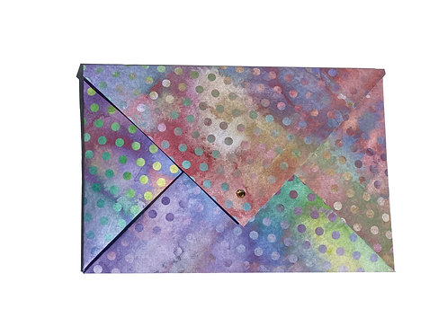 Purple Polka Large Origami Envelope