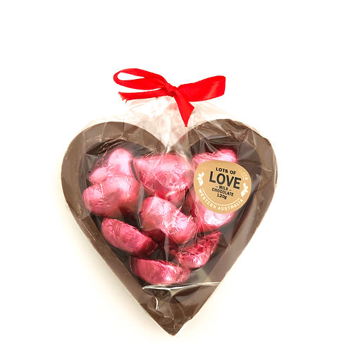 Add On - Pink Choc Heart 120g
