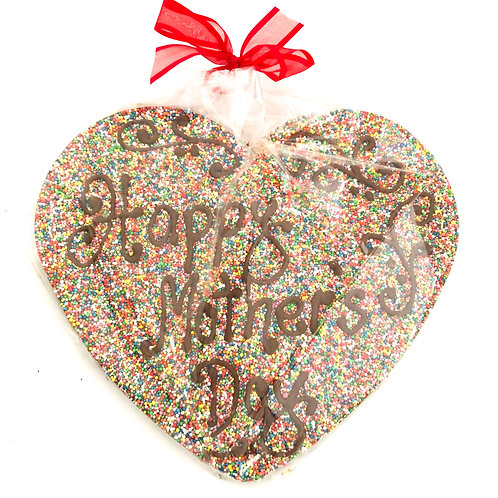 Large Chocolate Freckle Heart Mothers Day