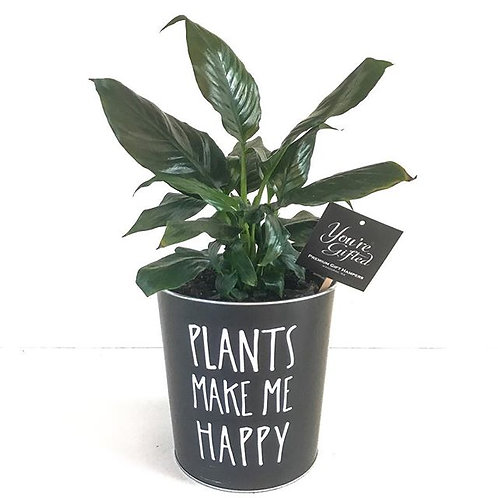 Plants Make Me Happy - Peace Lily
