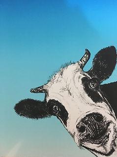 Cow, litograph