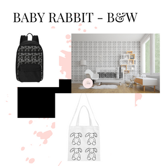 Baby Rabbit - Black & White