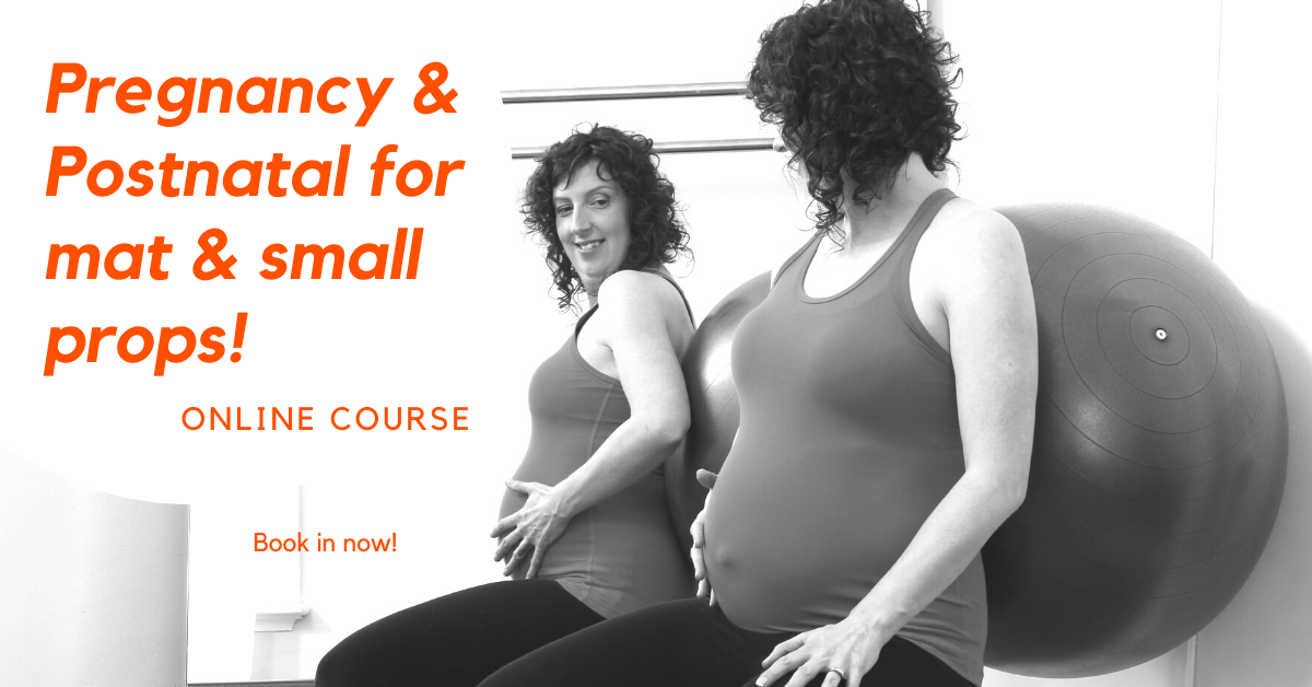 ONLINE Pilates Pregnancy and Postnatal course mat and small props