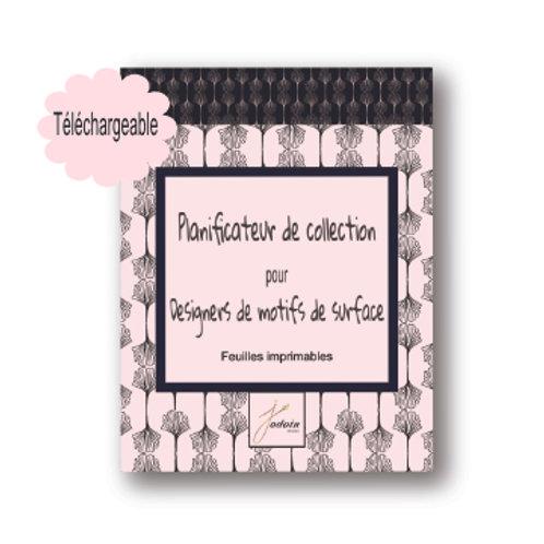 Planificateur de collections pour designers de motifs de surface-Imprimable 20p