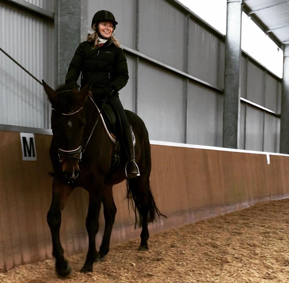 Helen Fletcher on a horse