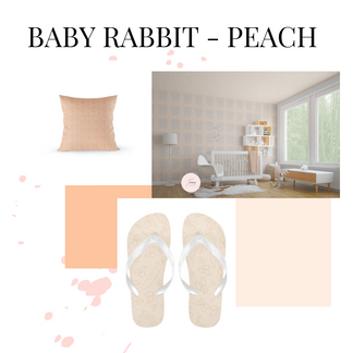 Baby Rabbit - Peach