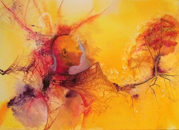 Lost, Manon Jodoin studio, watercolor, 1