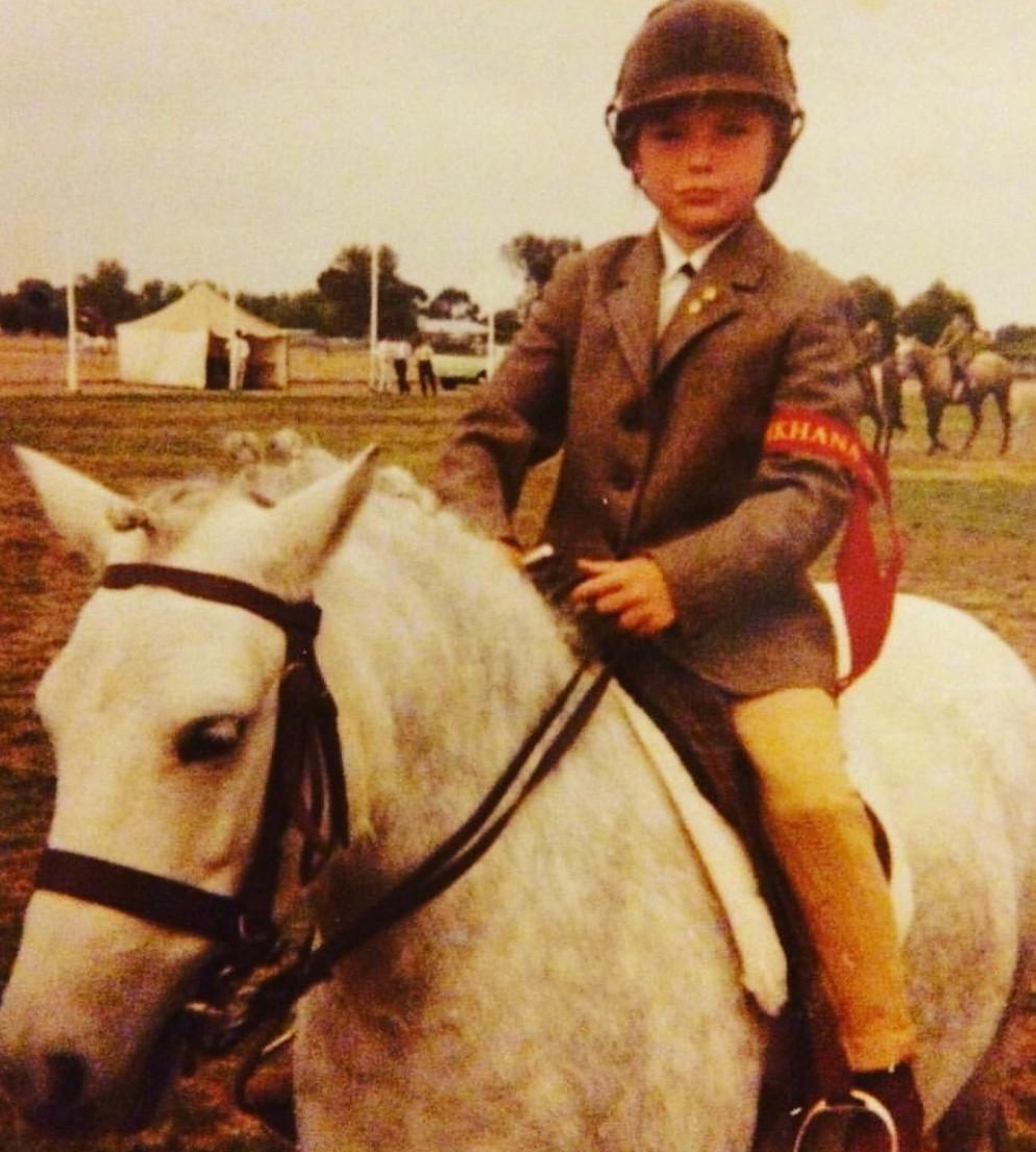 Helen Fletcher as a child