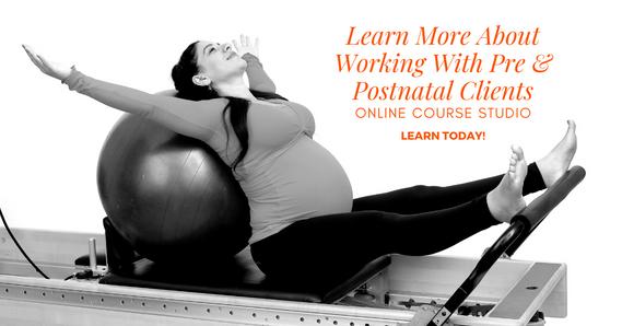 Online course Pilates Pregnancy and Postantal course studio