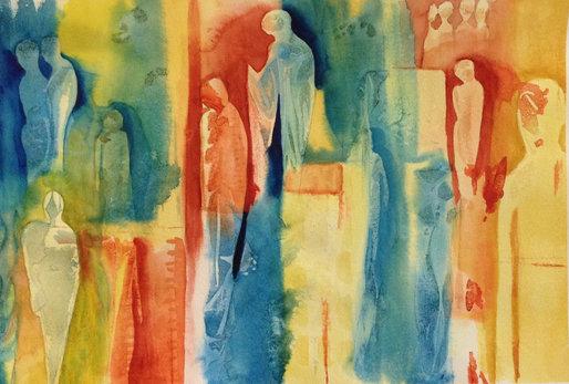 Manon Jodoin - Figures 1 - watercolor -