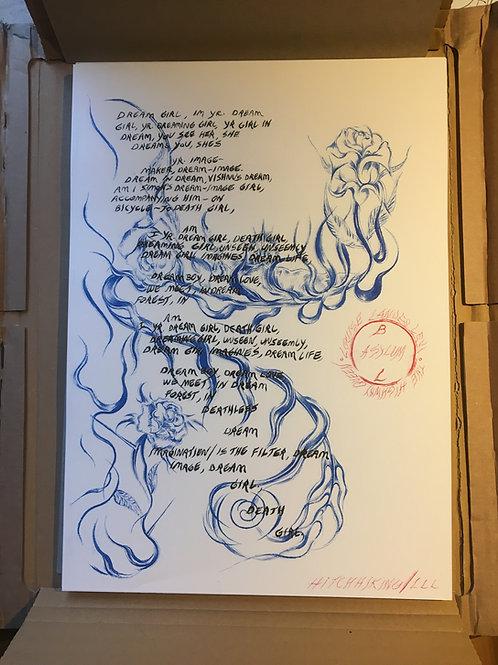 Dream Girl // Louise Landes Levi // Poetry Broadside // Signed