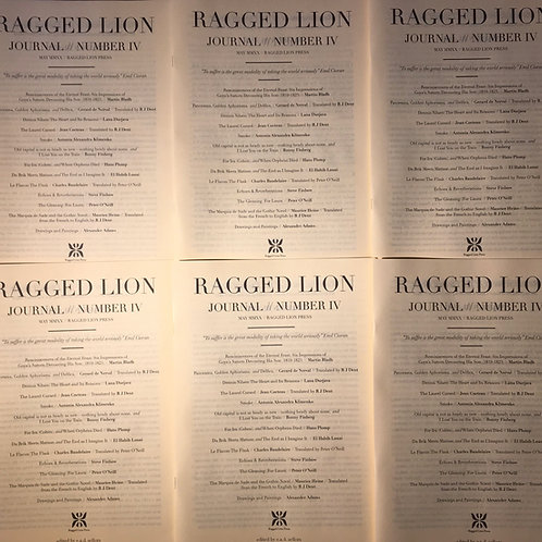 Ragged Lion Journal #4