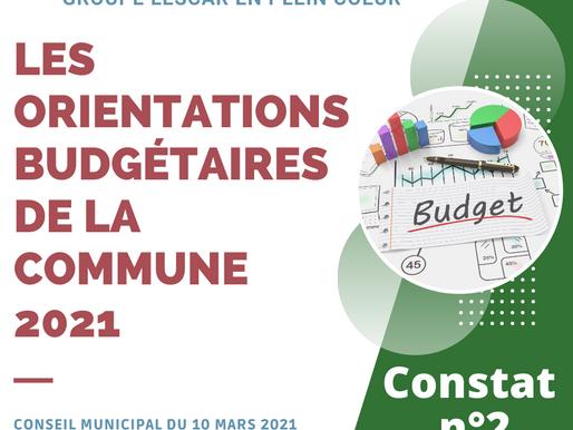 [Orientations Budgétaires 2021]