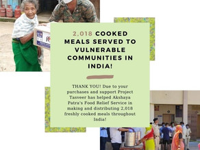 2,018 COOKED MEALS SERVED IN INDIA