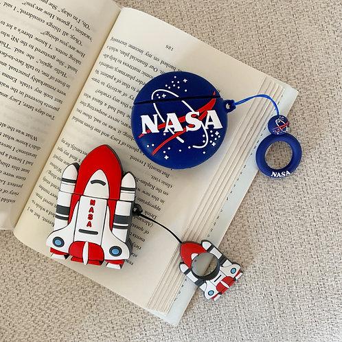 Nasa Galaxy Spaceship AirPods Case