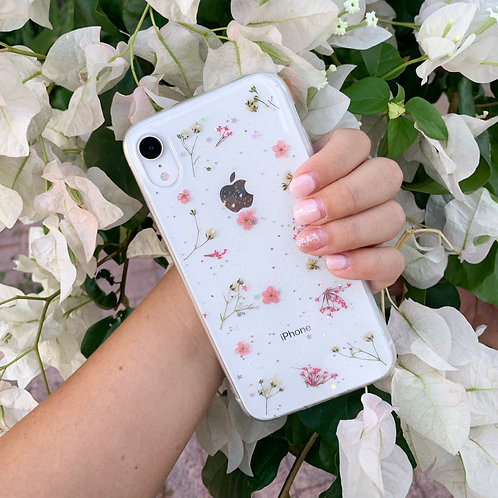 Pink Pressed Flower iPhone Case