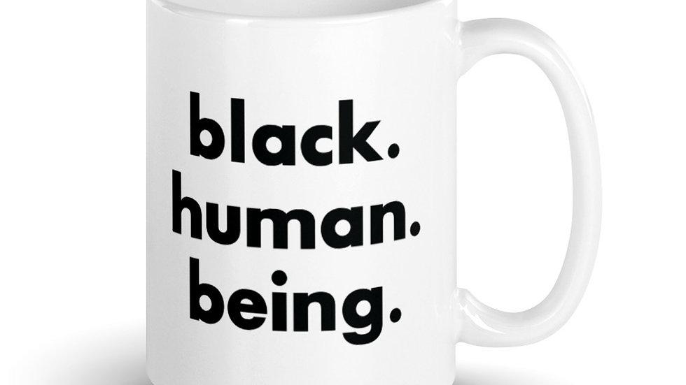 Black. Human. Being. Mug