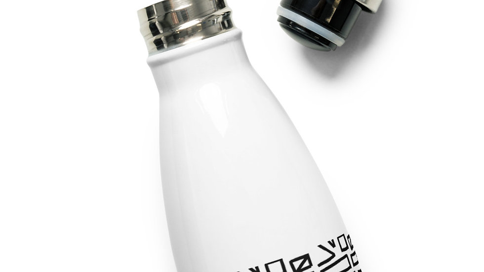 Abstract Stainless Steel Water Bottle