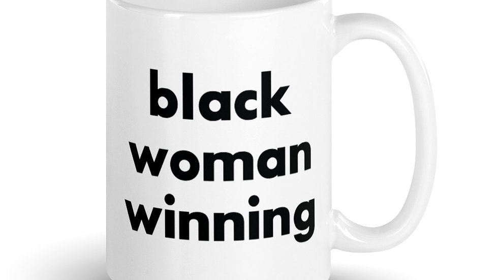 Black Woman Winning Mug