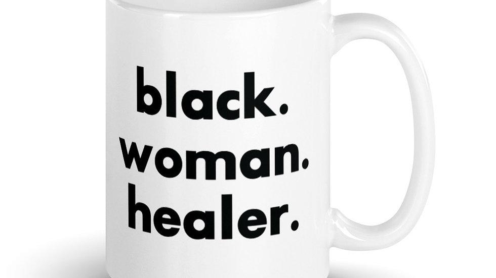Black. Woman. Healer. Mug.