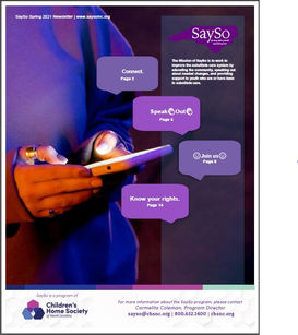 SaySo - Newsletter-Spring - 2021 - COVER