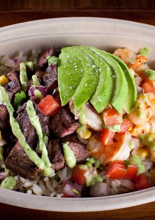 Surf 'N' Turf Burrito Bowl