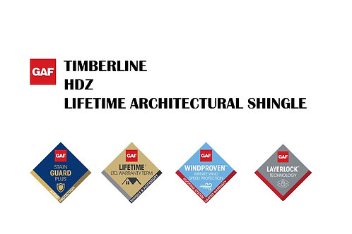 GAF TIMBERLINE HDZ LIFETIME ARCHITECTURAL SHINGLE