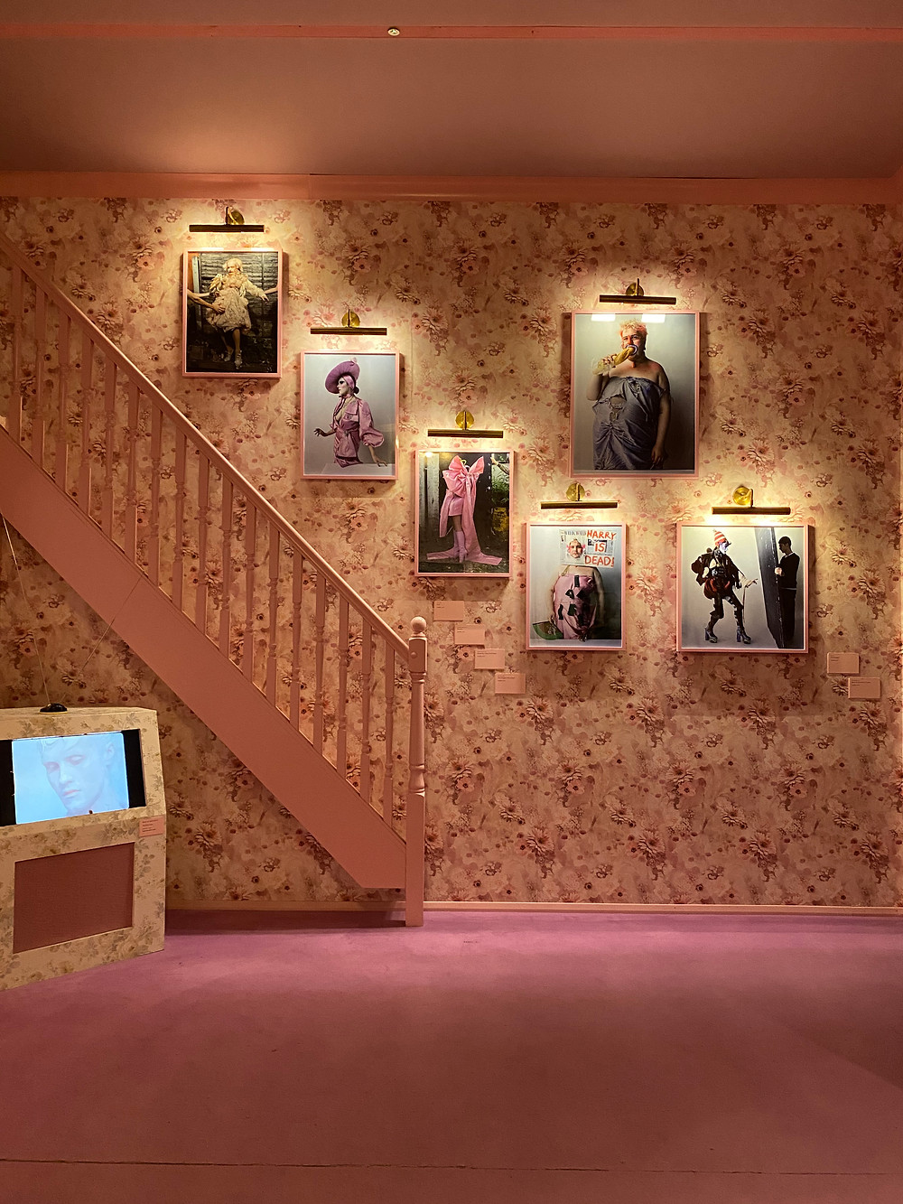Installation at the Tim Walker photography exhibition