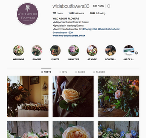 WILD ABOUT FLOWERS INSTAGRAM PAGE