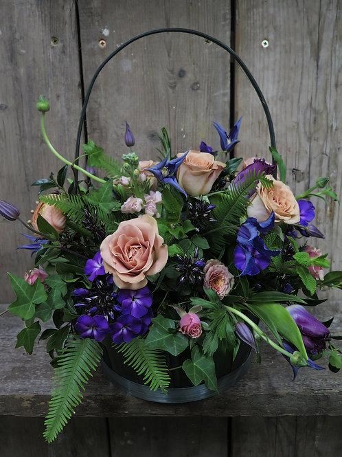 Purple Wallflower Basket
