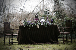 Woodland floral table setting