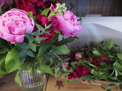 Peony & Stock Flowers by Post