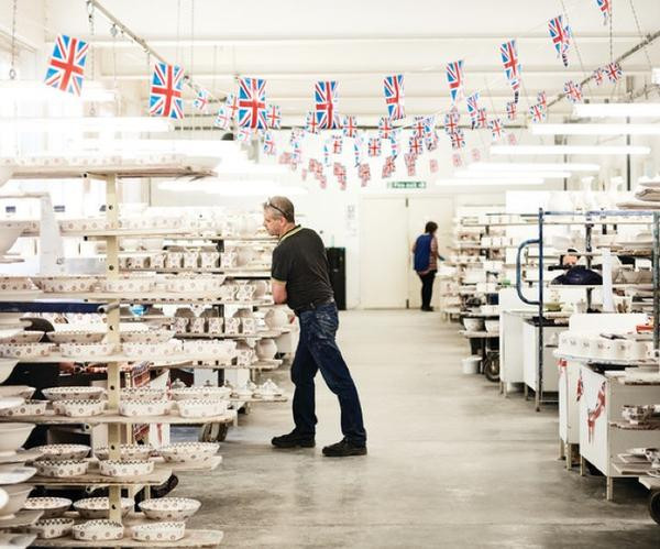 Emma Bridgewater pottery factory in Stoke-on-Trent